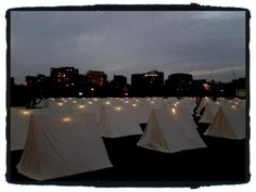 Lights are on at The Encampment!! - Tweeted by @aderojas