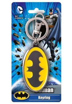 Amazon.com: DC Batman Colored Logo Pewter Key Ring: Toys & Games