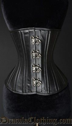 Double Boned Faux Clasp Corset #corset #underbust #goth #gothic http://draculaclothing.com/index.php/double-boned-faux-clasp-corset.html