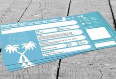 Departure Card Wedding Invitation by InvitationDesignNZ on Etsy, $52.00
