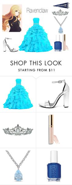 """""""Ravenclaw Yule Ball"""" by emmalineavery on Polyvore featuring Steve Madden, Kate Marie, Beautycounter, Amour and Essie"""