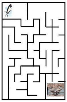 Preschool Worksheets, Baby Time, Maze, Art Projects, Kindergarten, Company Logo, Birds, Education, Spring