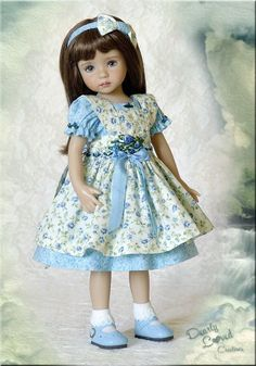 "13"" Little Darling Effner Rose Garden 3-piece Outfit made by DL   eBay"