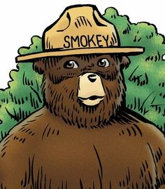 Smokey The Bears, The Great Outdoors, Firefighter, Halloween Party, Deer, Nostalgia, National Parks, Wildlife, Clip Art