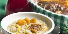 Riisi+Ohra uunipuuro Oatmeal, Breakfast, Food, The Oatmeal, Morning Coffee, Rolled Oats, Essen, Meals, Yemek