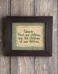 Shop for stitch wall art and stitched pictures from Primitives By Kathy. The industry leader in home decor, home accents, gifts and more. Primitive Embroidery, Primitive Stitchery, Primitive Crafts, Vintage Embroidery, Cross Stitch Embroidery, Embroidery Patterns, Hand Embroidery, Cross Stitch Patterns, Sewing Patterns