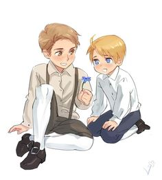 Davie and Alfred ♥ and for those who don't know, they're not a couple, just friends ^-^