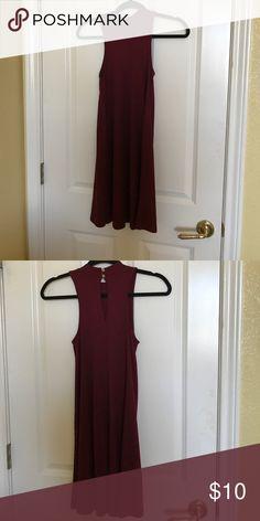 Hollister red high neck dress never worn Hollister red high neck dress Hollister Dresses
