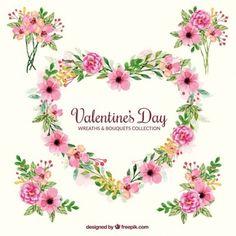 Ramalhetes decorativos e coroa de flores para Dia dos Namorados
