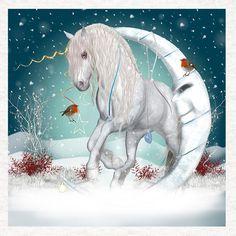 Unicorn Dreams, Fantasy Winter Art, Fabric Sewing Craft Panel     eBay