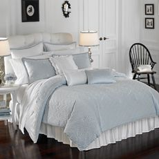 Lenox® French Perle Comforter Set - Bed Bath & Beyond. If the blue walls in my room were just a little darker this might be perfect. :)