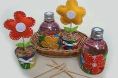 Kit com aromatizador de ambiente e vasinho com flor de feltro