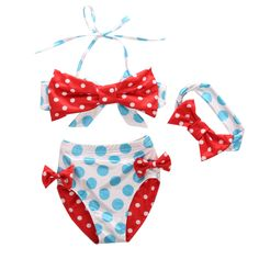 3Pcs/set Kids Baby Girl Bikini Suit Polka Dot Swimwear Swimsuit Swimming Outfits Bathing-in Clothing Sets from Mother & Kids on Aliexpress.com   Alibaba Group