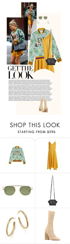 """""""Hailey Baldwin in New York City."""" by poison-iivy ❤ liked on Polyvore featuring Baldwin, Gucci, Lemaire, Garrett Leight, Yves Saint Laurent, Ippolita, Yeezy by Kanye West, GetTheLook, StreetStyle and CelebrityStyle"""