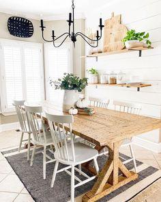 Kitchen Eating Areas, Ektorp Sofa, Concrete Pots, Farmhouse Style Kitchen, Farmhouse Decor, Farmhouse Ideas, Modern Farmhouse, Home Decor Inspiration, Decor Ideas