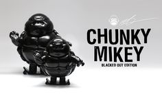 CHUNKY MIKEY from Alex Solis is back... and he's BLACKED OUT! #AlexSolis #Artist #Designer #DesignerToyArtToy #Polystone