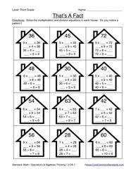 Common Core Worksheet - 3.OA.7 - Have Fun Teaching