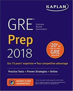 Kaplan Test Prep GRE 2018 Strategies Practice And Review With 4