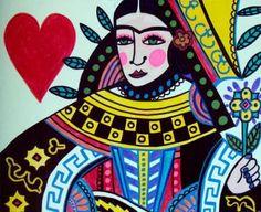 Queen of Hearts  Frieda Kahlo  Heather Galler