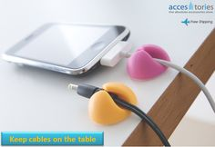 Who said that organize your cables is a mess?  http://www.accestories.com/en/store/tablet-accessories/6-x-smart-cable-drops-cable-organizers--detail