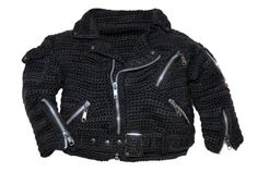 Crochet Patterns, Crochet Pattern for Boys, Crochet Pattern for Girls, Inspired by Harley Davidson, Biker Jacket, Patty Davis Designs