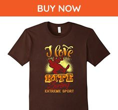Mens I love kite surfing extreme sport kitesurfing TShirt Large Brown - Sports shirts (*Amazon Partner-Link)