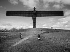 The Angel of the North by Antony Gormley, Gateshead Contemporary Sculpture, Contemporary Art, Angel Of The North, North East England, Antony Gormley, Secret Places, Newcastle, Mazda, Tattoo Ideas