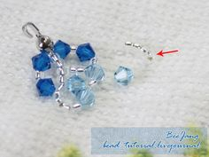 Tutorial : Crystal Bracelet #11 Level : Intermediate This is not my design. I got the pattern and design from Thai craft magazine. Equipment : - Swarovski Bicone Crystal 4 mm. - Seed Bead 11/0 - Nylon Thread - Jumprings - Clasp - Crimp bead - Bead tip - Pliers 1. Cut two nylon threads, 100 cm for…