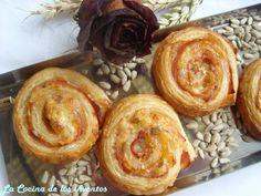 La Cocina de los inventos: Espirales de Hojaldre de Jamón y Queso