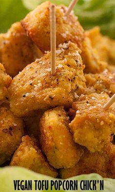 Vegan Tofu Popcorn Chicken! Definitely will be trying this!