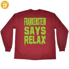 123t slogans Slogans Herren Langarmshirt Gr. Medium, Maroon - Shirts mit spruch (*Partner-Link)
