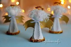 Heavenly Upcycled Egg Carton Christmas Angels   AllFreeChristmasCrafts.com
