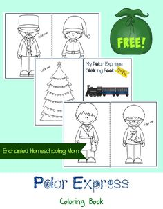 FREE Polar Express Coloring Book | Enchanted Homeschooling Mom | Enchanted Homeschooling Mom