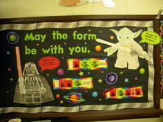 Music Classroom Bulletin Boards: Star wars May the FORM be with you.