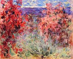 Flowering Trees near the Coast - Claude Monet.