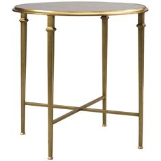 Lillian August Barlow Round End Table in Gold LA95323-01, Lillian August, Benjamin Rugs & Furniture