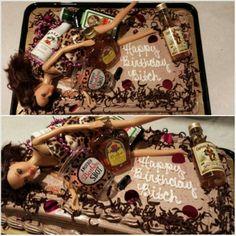 Happy Birthday Drunk Barbie Cake I made for my best friend.