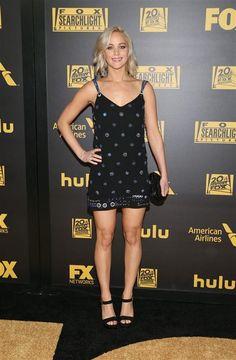 Jennifer Lawrence attends Twentieth Century Fox's Golden Globe Awards afterparty in Beverly Hills, Calif., on Jan. 10, 2016.