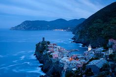 Dusk, Vernazza, Italy photo via woah Vacation Destinations, Vacation Spots, European Vacation, Monaco, Places To Travel, Places To See, Portugal, France, Beautiful Places To Visit
