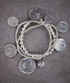 Coins Trio of Bracelets – Zen Sisters Jewelry