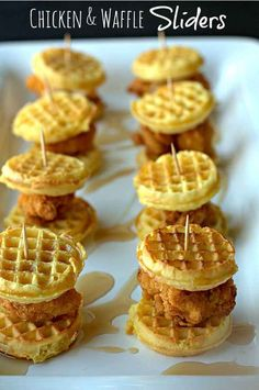 Chicken and Waffle Sliders | 31 Glorious Game Day Snacks You Need In Your Life