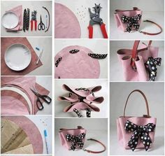 Çanta handbag tutorial, diy handbag, mini bolso, arts and crafts, diy craft Handbag Tutorial, Diy Handbag, Diy Sac, Diy Accessoires, Do It Yourself Fashion, Diy And Crafts Sewing, Sewing Art, Diy Crafts, Sewing Tips