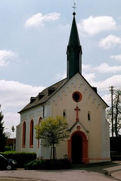 Schwarzenborn (W of Himmerod), village church, by jrm_tomburg, via Flickr. This photo was taken on May 16, 2004 in Bernkastel-Wittlich, Rhineland-Palatinate, DE.