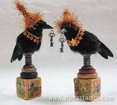 www.AlphaStamps.com Gallery - Halloween Ravens by Kristin Batsel