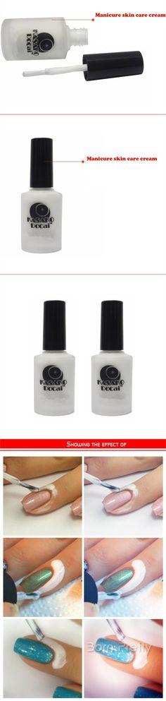$3.99 White Peel Off Liquid Tape & Peel Off Base Coat Nail Art Liquid Palisade - BornPrettyStore.com