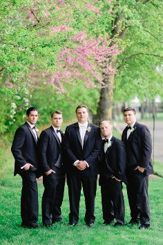 (Photo by Katherine Murray Photography) #blacktux #groom #groomsmen #springweddings