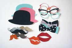 Accessoires de photobooth imprimables - Vous pouvez embrasser la mariée