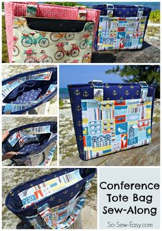 Want to learn more about sewing bags? This tote bag pattern sew-along includes so much info with videos, photos and lots of helpful links and tips.