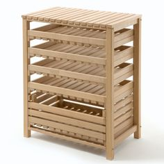 Stainless Steel Storage Tin, Beechwood Fruit and Vegetable Rack, Preserving Jars with Lids, Screw-Top Fruit-Juice Bottles, Mitheis Pearwood Bread Bin and more at Manufactum Vegetable Rack, Vegetable Storage, Building Furniture, Cool Furniture, Fruit Storage, Food Storage, Storage Ideas, Kitchen Upgrades, Kitchen Ideas