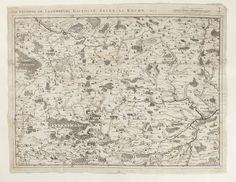 Karta över omgivningarna vid Luxemburg, Bastogne, Arlon, La Roche mm. 1727.
